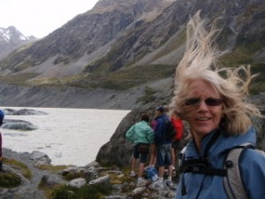 Windy Glacier NZ