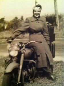 My mum the biker
